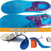 High Quality Massaging Gel Shoe Insoles Arch Supports For Men/ Women/ Flatfoot