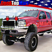For Ford F250 F350 F450 F550 2000-2004 3pc Black Mesh Rivets Grille Replacements