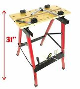 Work Bench Tool Helper Construction Saw Horses With Vise