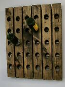 Wine Rack Wood Wall Mounted Riddling Rack Rustic And Distressed