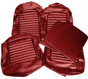Ford Mustang Standard Seat Trim Kit Bright Red 1965 65 Fastback Hipo Gt 200 289