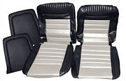 Ford Mustang Deluxe Pony Seat Trim Kit Black And White 65 66 1965 1966 Coupe 289