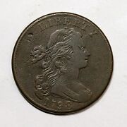 1798 S-165 R-4 Large 8 Style 2 Hair Draped Bust Large Cent Coin 1c