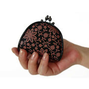 Women Leather Coin Purse Japanese Style Gamaguchi Inden 1105 Traditional Craft