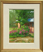 Kim Mackey Untitled Landscape Hand Signed Original Oil Painting On Board Obo