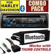 For Harley Touring Pioneer Deh-s4220bt Bluetooth Cd Usb Radio Stereo Adapter Kit
