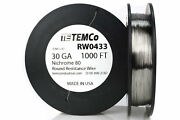 Temco Nichrome 80 Series Wire 30 Gauge 1000 Ft Resistance Awg Ga