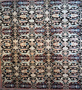 10x8 Sultanabad Antique Look Serapi Gorgeous Black Hand Made 100 Wool Pile