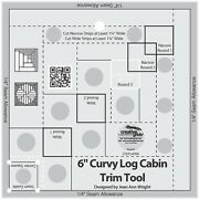 Creative Grids Curvy Log Cabin Trim Tool For 6andrdquo Finish Sewing And Quilting Ruler