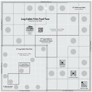 Creative Grids Log Cabin Trim Tool Two Sewing And Quilting Ruler