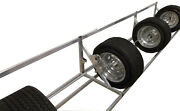 Pit Products 9and039 9ft Aluminum Tire Wheel Rack Race Car Trailer Hauler Accessory