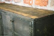 Media Console Tv Stand Credenza. Vintage Industrial. Steel/ Reclaimed Wood.