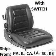 Seat Vinyl Suspension With Switch Mower Tractor Skidsteer Free Shipping