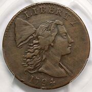 1794 S-21 R-3 Pcgs Xf Details Head Of 1794 Liberty Cap Large Cent Coin 1c