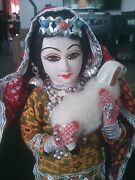 Vintage Kashmiri Collectible Doll Ceramic Face Hand Painted Handmade