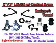 07 - 13 Chevy Suv 6 / 3 Full Lift Kit 2wd Spindles +tubular Upper Control Arms