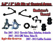 07 -13 Chevy Suv 5.5 / 3 Full Lift Kit 2wd Spindles +tubular Upper Control Arm