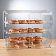 Pastry Self Serve Display Case 3 Tray Bakery Deli Store Candy Donut + 10 Rebate