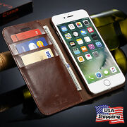 Genuine Leather Wallet Card Flip Case Cover For Iphone 12 11 Pro Max Xr 8/7 Plus