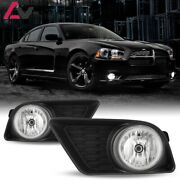 11-14 For Dodge Charger Clear Lens Pair Fog Light Lamp+wiring+switch Kit