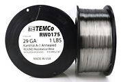 Temco Kanthal A1 Wire 29 Gauge 1 Lb 3226 Ft Resistance Awg A-1 Ga