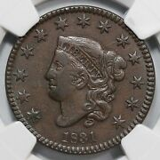 1831 N-4 Ngc Xf 40 Matron Or Coronet Head Large Cent Coin 1c