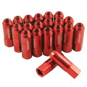 Red 20pc Extended Forged Aluminum Tuner Racing Lug Nut For Ford Mustang Jdmspeed
