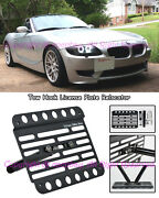 Fit 02-08 Bmw E85 Z4 M-sport Front Tow Hook Mount License Plate Relocator