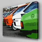 Cars399 Four Ford Escort Models City Canvas Art Ready To Hang Picture Print