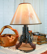 Six Shooters Western Cowboy Pistol Figural Table Night Lamp Light Home Decor