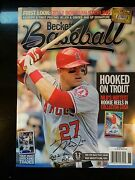 Super Rare Sept 2012 Beckett Featuring Mike Trout-signed Inscribed 2012 Al Roy
