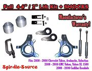 2000 - 2006 Chevy Gmc 1500 4-6 / 2 Lift Kit Spindles Spacer Tool Ext + Shocks