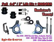 2000 - 2006 Chevy Gmc 1500 4-6 / 3 Lift Kit Spindles Spacer Tool Ext + Shocks