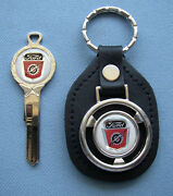 Vintage Ford Truck Lightning Bolt White Gold Classic Key And Fob 1959 1960 1961