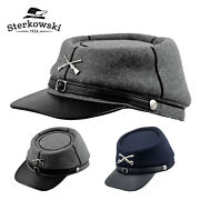 Sterkowski Blue And Gray Wool Kepi Hat Replica History Confederate Military