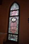 + Beautiful 95 Year Old Stained Glass Window + C.1918 + 5ns + + Chalice Co.