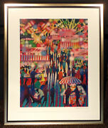 James Talmadge Opening Night At The Carnival Hand Signed Framed Serigraph Art