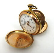 Art Nouveau A Frankfield And Co New York Diamond And 14k Gold Pocket Watch