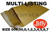 Genuine Jiffy Padded Envelopes Airkraft Bags All Sizes - Gold