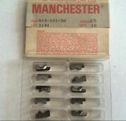 Manchester 510 101 50 C5 1141 Grooving Lathe Carbide Inserts 10 Pcs New Tools