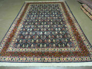 6and039 X 9and039 Vintage Fine Hand Made India Paisley Rug Hand Knotted Carpet Organic Dye