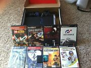 Sony Playstation 2 Black Console 2 Controller, 2 Memory Cards, 8 Games