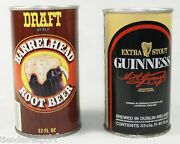 Two Can Vintage Guinness Ireland Beer And Draft Barrelhead Root Beer.