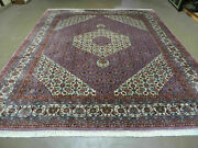 8and039 X 10and039 Vintage Fine Hand Made India Wool Rug Hand Knotted Carpet Detailed Nice