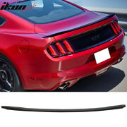 Fits 15-21 Ford Mustang Gt Factory Style Abs Black Rear Trunk Spoiler Unpainted