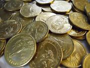 Grab Lot Real U.s. 100 In Circulated Gold Presidential Dollar Coins 2007-2011