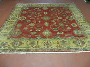 6.5and039 X 7and039 Vintage Hand Made Egypt Agra Wool Rug Carpet Square Beauty
