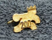 Sterling Silver 2 Grams Gold-colored Bowler 200-game Trophy Charm B54