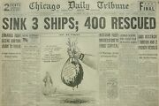 10-1939 Wwii October 16 Sink 3 Ships 400 Rescued. Russian Fleet Masses Close