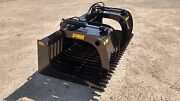 New 66 Skeleton Rock Bucket With Grapple Open Sides Design Skid Steer Tractor